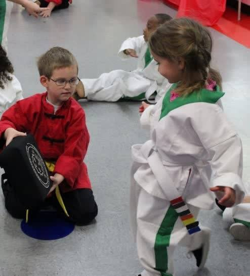 young martial arts students